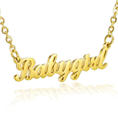 Babygirl Stainless Steel Necklace Silver / Gold