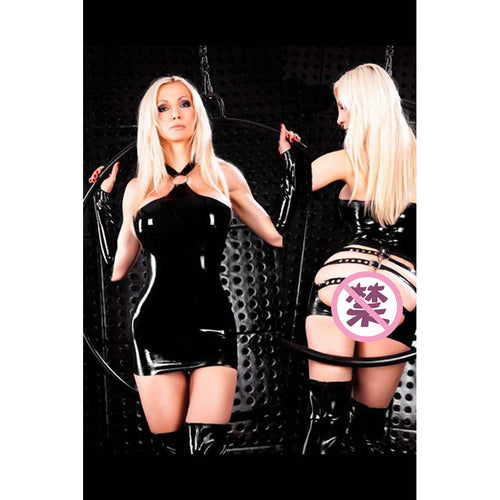 Buckle and Spank Dress  with Gloves and Thong X611