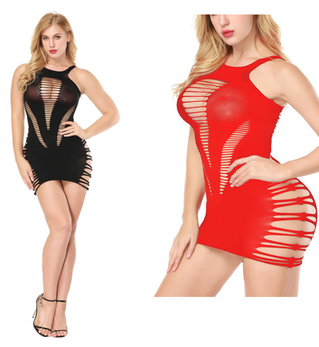 The 8789 Clubtime Fishnet Bodystocking Dress