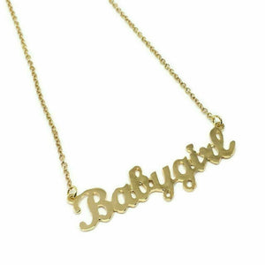 Babygirl Stainless Steel Necklace and Pendant