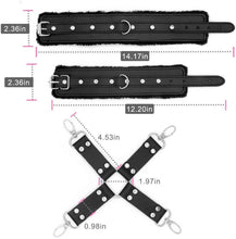Hog Tie Leg Ankle Wrist Cuffs Bondage Restraints Set Kit Cuff Faux Unisex