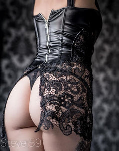 The Marika Black Lace and Faux Corset