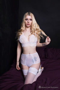 Elisha 273 High Waist Lace Knicker and Bra Set
