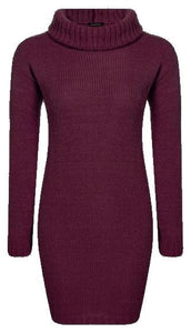 Womens Cowl Neck Knitted Jumper