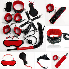 10pc Bondage Set (red and Black)