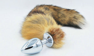 Fox Fur Tail Anal Butt Plug Stainless Steel Butt Plug Anal Adult Sex Toy Unisex