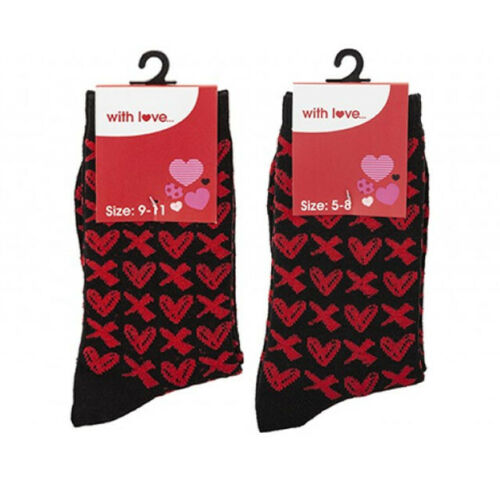 Valentine Socks - Hearts and Kisses