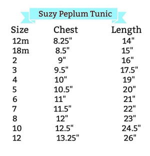 Flying Elephant Suzy Peplum Tunic