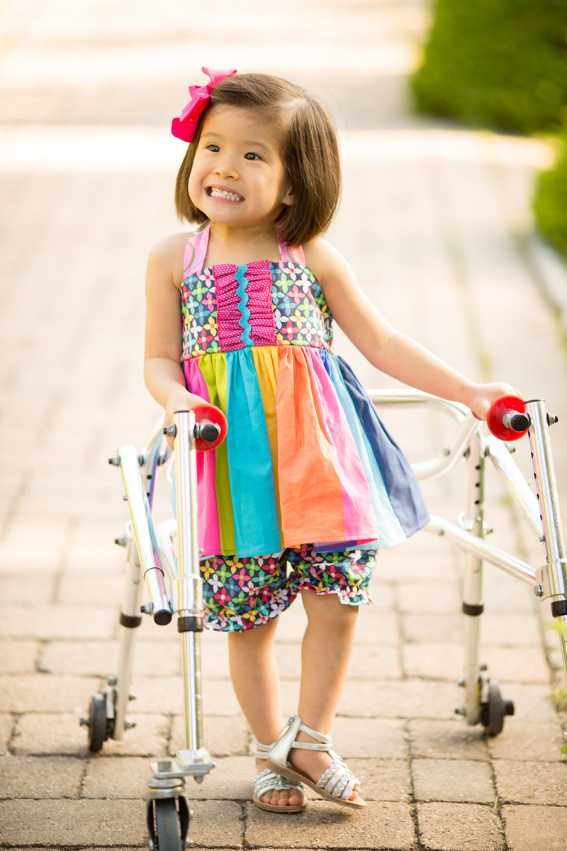 Rainbow Halter Tunic with Matching Bloomers
