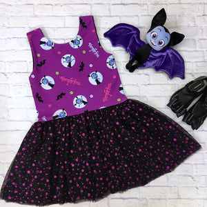 Purple Vampire Girl Lucy Dress