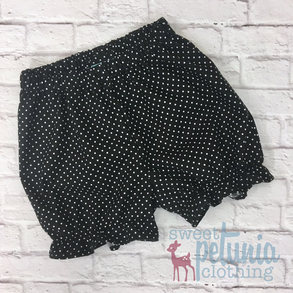 Black and White Pin Dot Bloomers