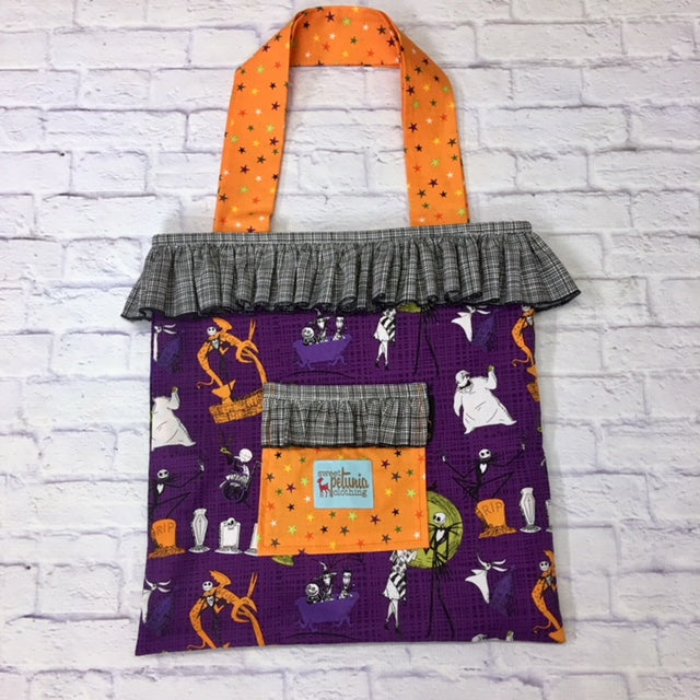 NBC Purple Trick or Treat Tote Bag