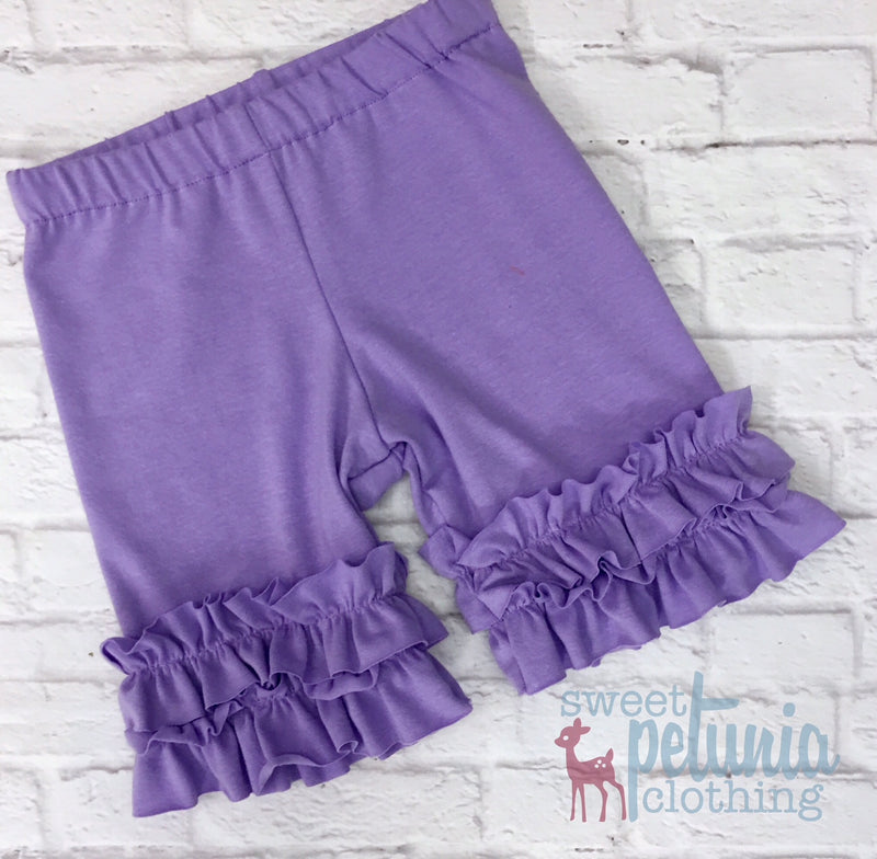 Shorties - Lavender Knit Shorties