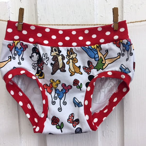 Red Sketch Mouse Undies