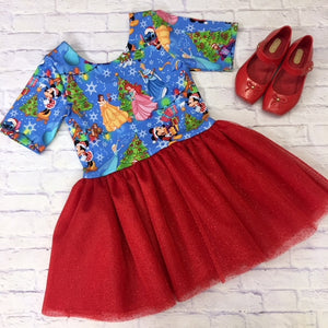 Princess and Friends Red Sparkle Lucy Dress