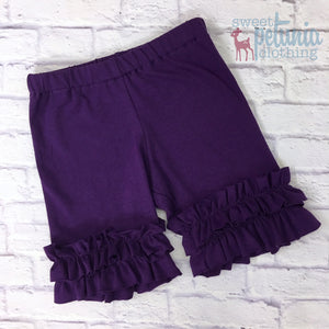 Shorties - Purple Knit Shorties