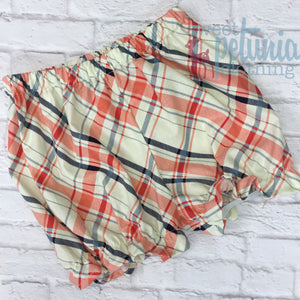 Bloomers - Red and Blue Plaid Bloomers