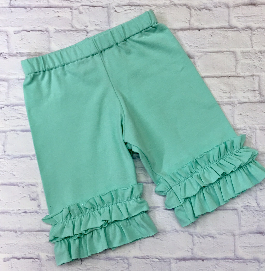 Shorties- Light Aqua Green Knit Shorties