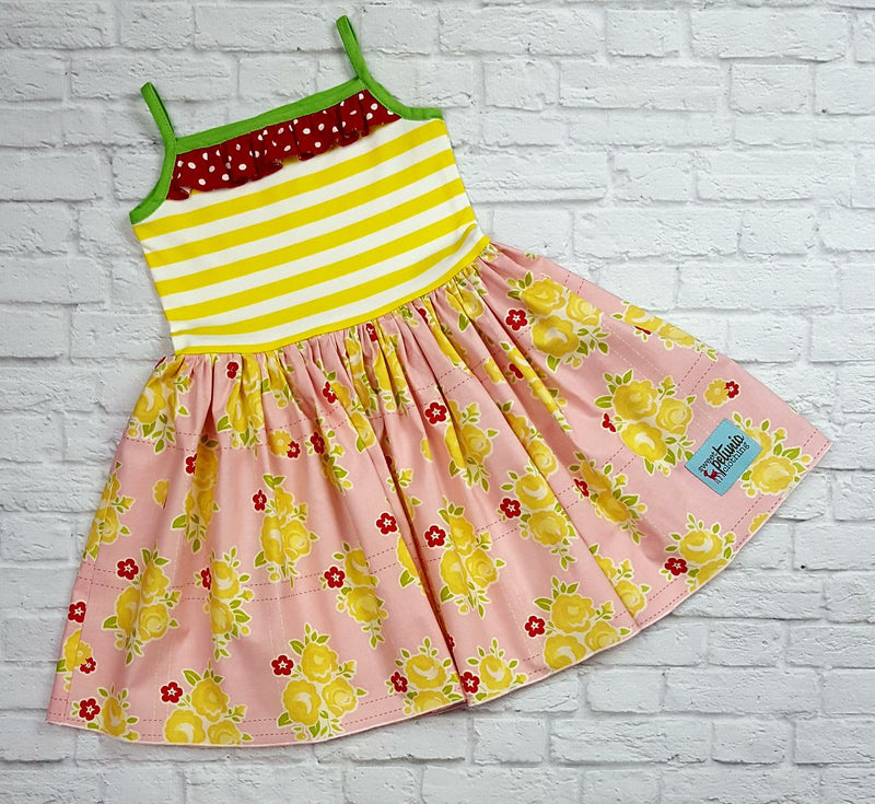 Pink and Yellow Floral Eva Dress