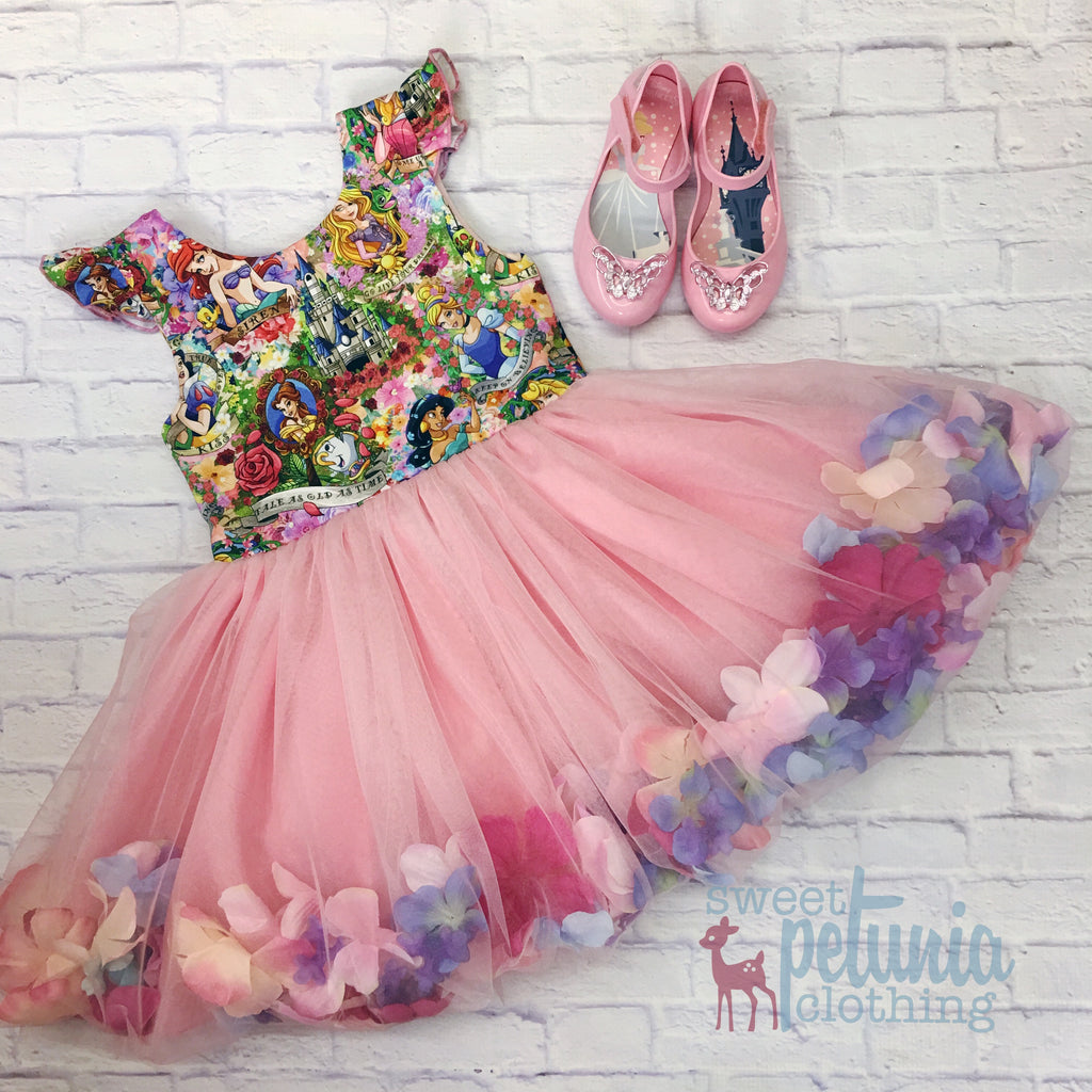 Flower Princess Caroline Dress