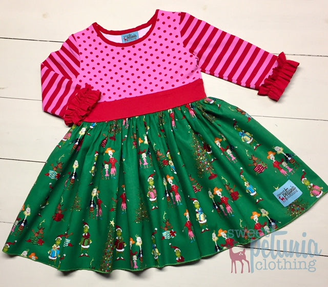 Green and Pink Grinch Dress