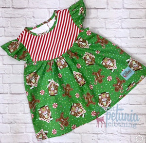 Green and Red Gingerbread Hazel Tunic