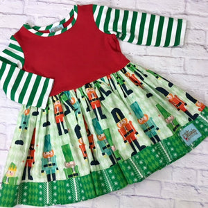 Red and Green Nutcracker Dress