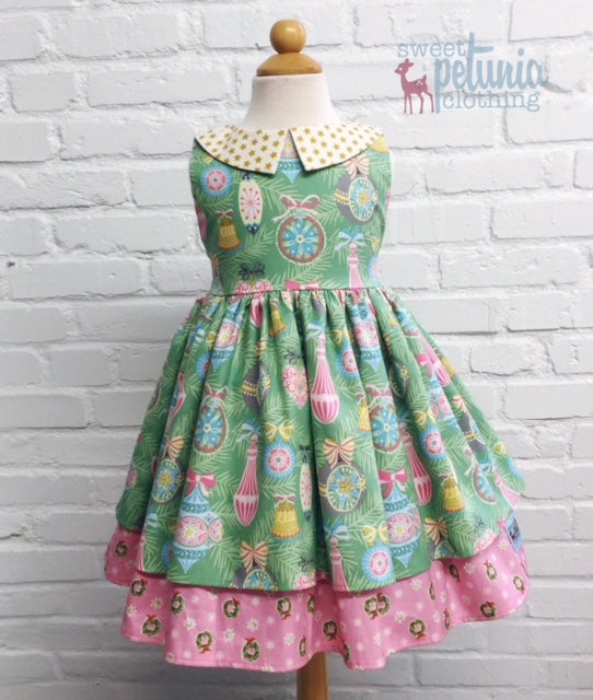 Pink and Green Ornament Ellodie Dress