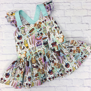 Magical Snacks Flutter Sleeve Peplum