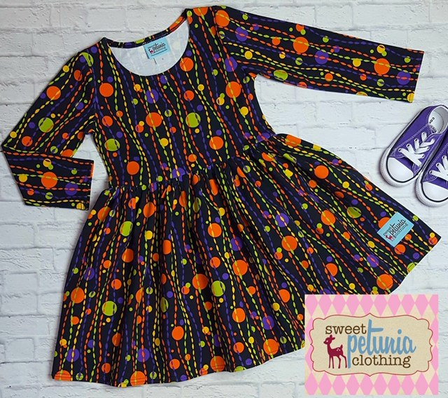 Halloween Celebration Dress with Long Sleeves