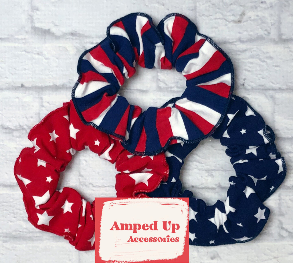 AMP Stars and Stripes Scrunchie Set