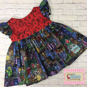 Red Roses Flutter Tunic (Beast and Belle)