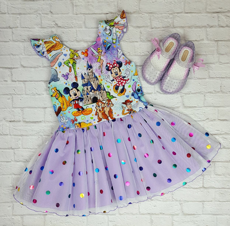 Magical Sketch Lucy Polka Dot Dress