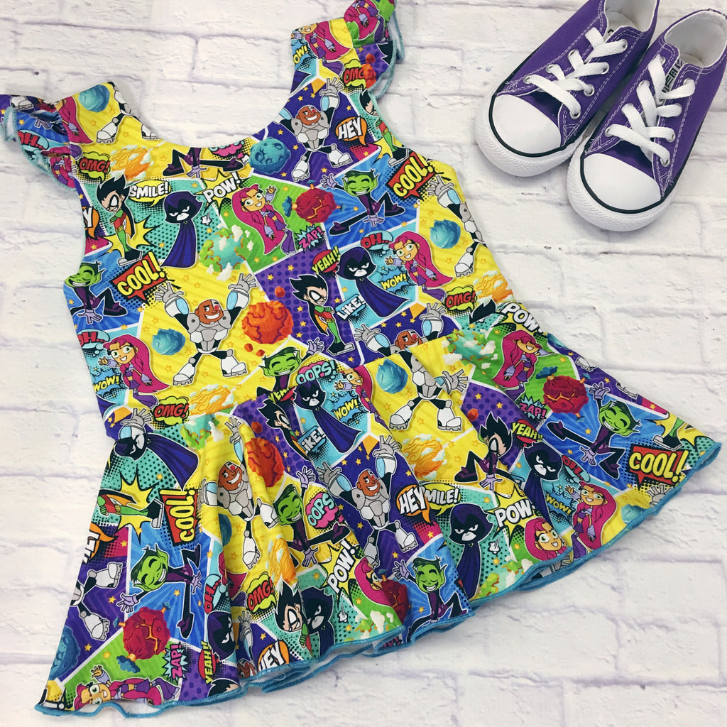 Teen Titans Knit Peplum Tunic