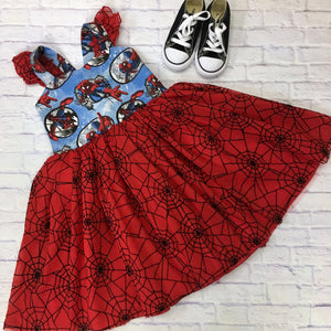 Spider-Man Ballerina Dress with Flutter Sleeves
