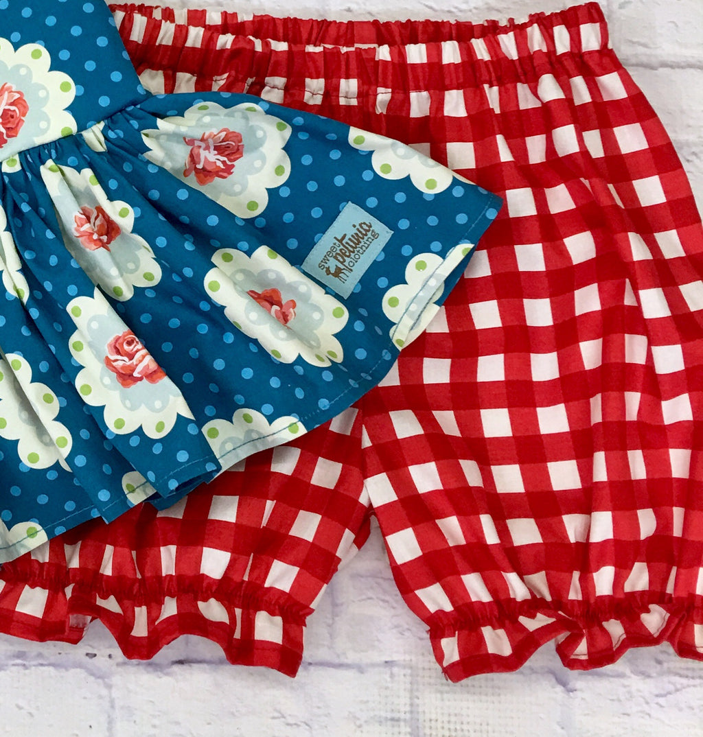 Bloomers- Red and White Checked Bloomers