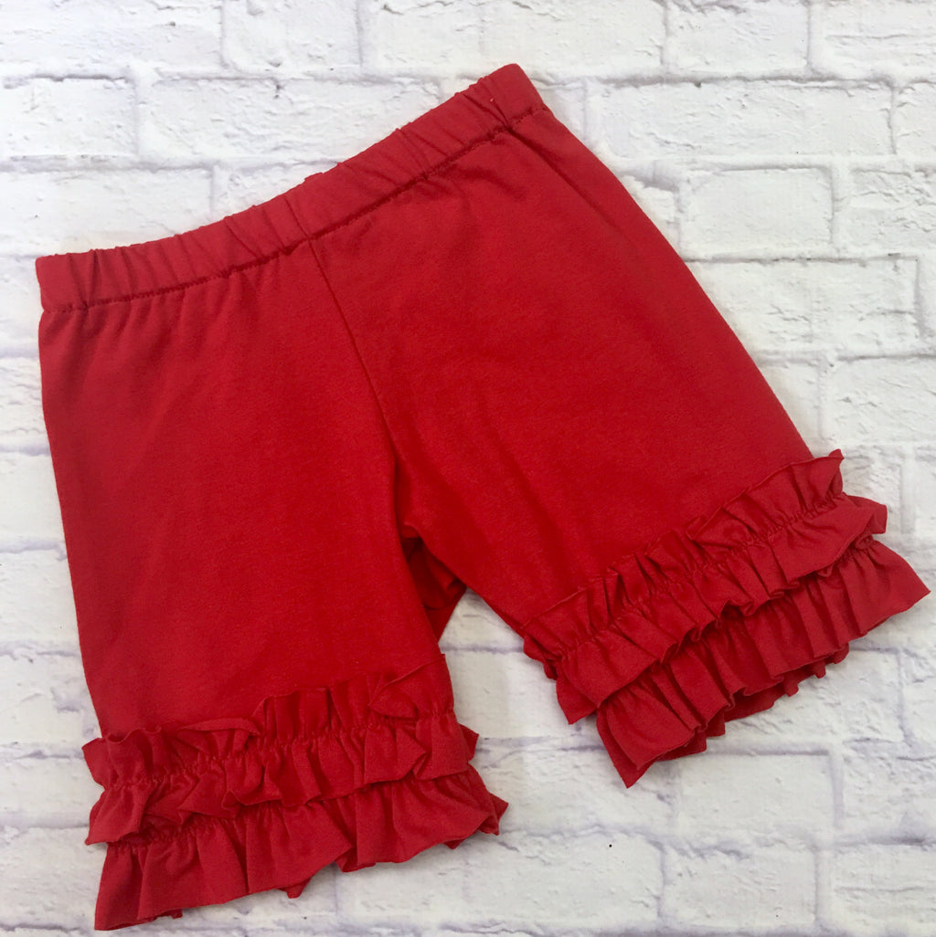 Shorties - Red Knit Shorties