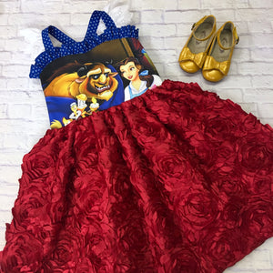 Belle Ballerina Red Rose Dress