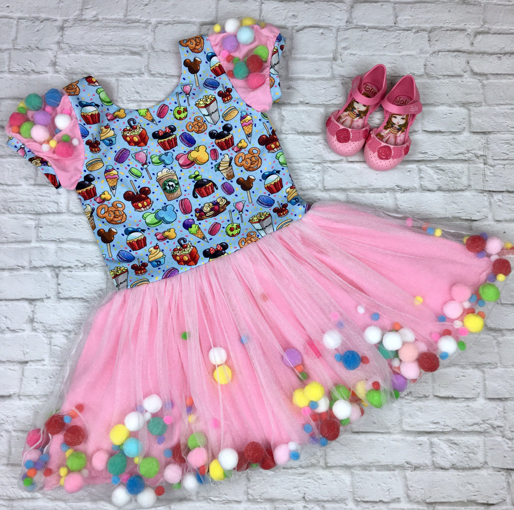 Blue and Pink Disney Snacks Lucy Dress
