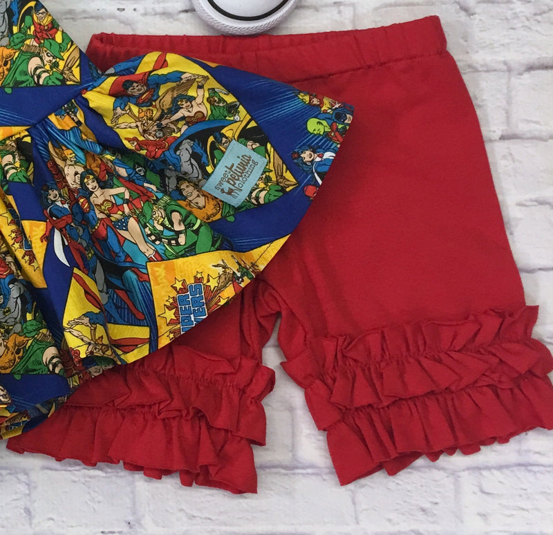 SH - Red Knit Shorties