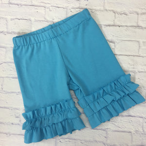 Shorties - Turquoise Knit Shorties