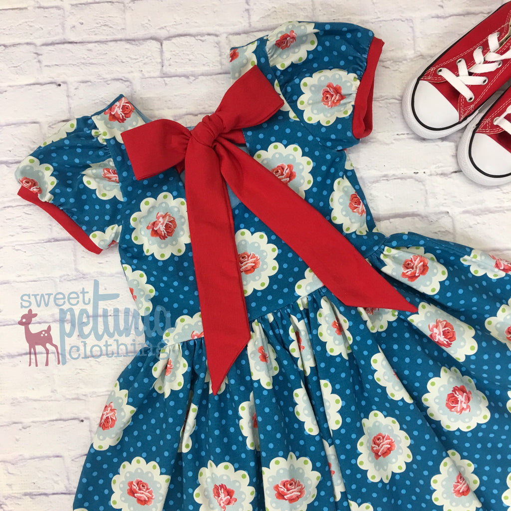Liberty Floral Bow Back Dress