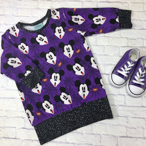 Purple Scary Mickey Emma Tunic