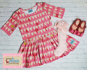 Pink and Ivory Hearts Quinn Tunic