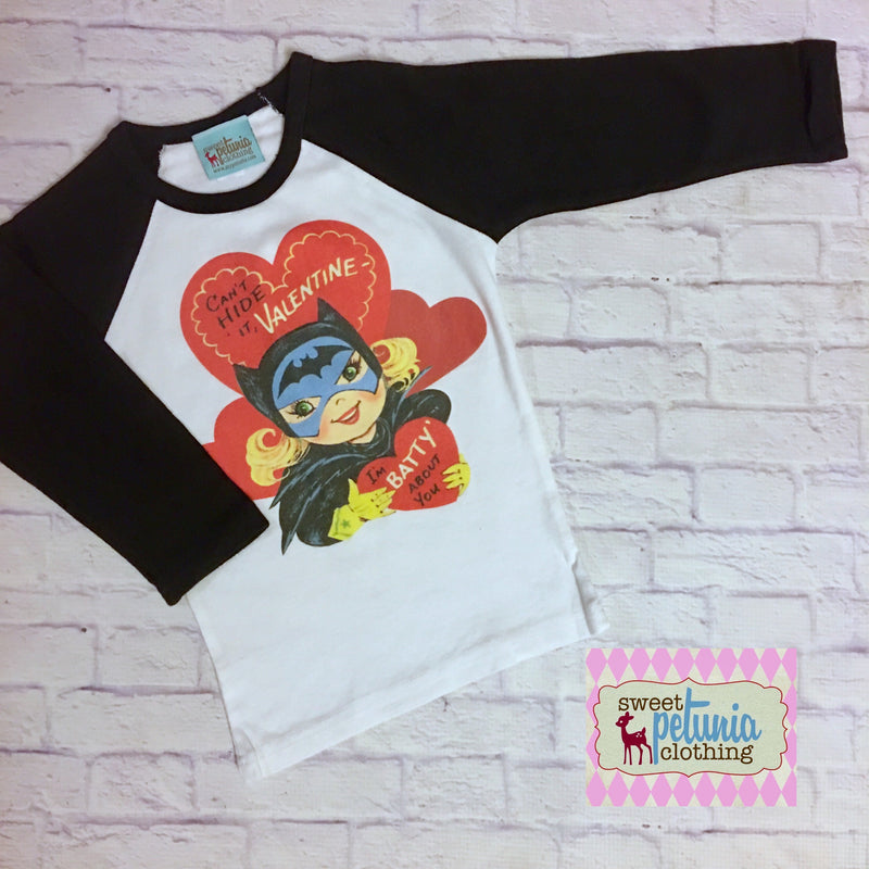 Bat Girl Valentine Tee