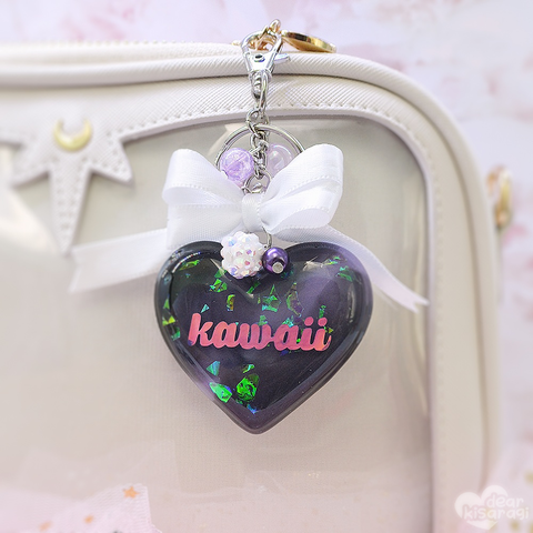 Charm | Kawaii Heart | Purple