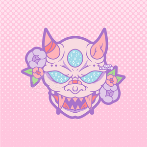 Sticker |  Oni Mask