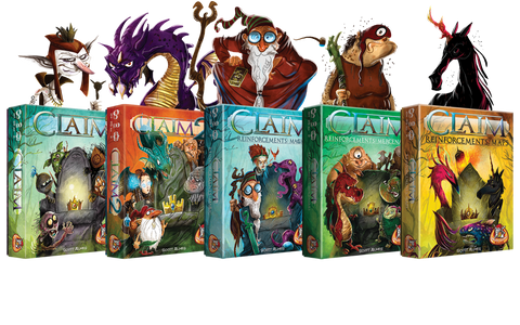 Claim Card Game by Scott Almes and White Goblin Games. Claim Reinforcements.