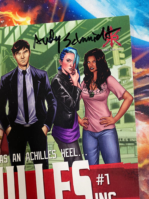 Achilles Inc #1 Comicpalooza Variant signed by Andy Schmidt
