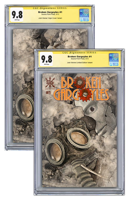 Broken Gargoyles #1 Variant CGC Set (9.8 Naked / 9.6 Trade Dress)